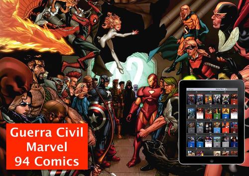 guerra civil de marvel - 94 comics - formato cbr