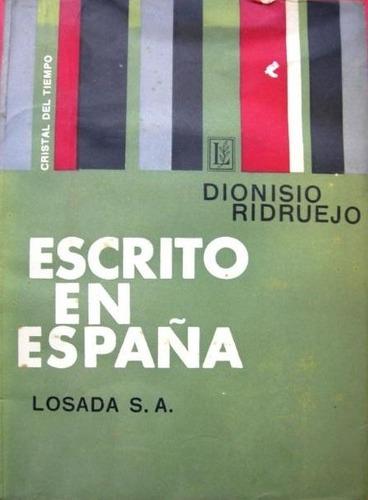 guerra civil española  dionisio ridruejo  escrito en españa
