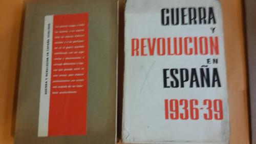 guerra y revolución en españa, ed progreso, algún deterioro
