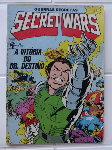 guerras secretas secret wars nº 1 a 12 - editora abril 1986