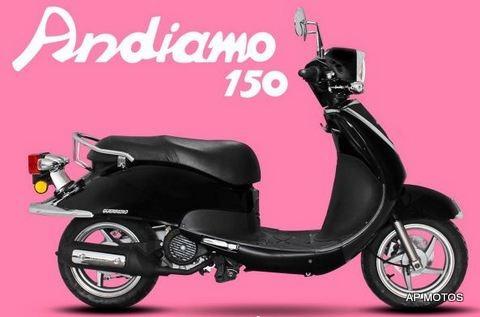 guerrero andiamo gsl 150 scooter motos