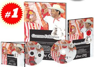 guerrero folklórico 1 vol + 1 cd + 1 dvd