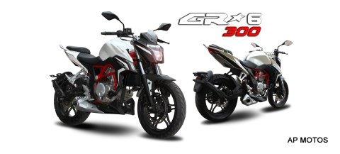 guerrero gr6 300 rojo 2021 0km naked ap motos gxr