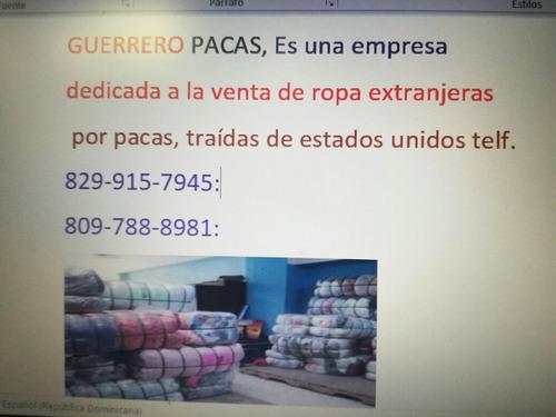 guerrero pacas::::vent de ropa extranjera por pacas.