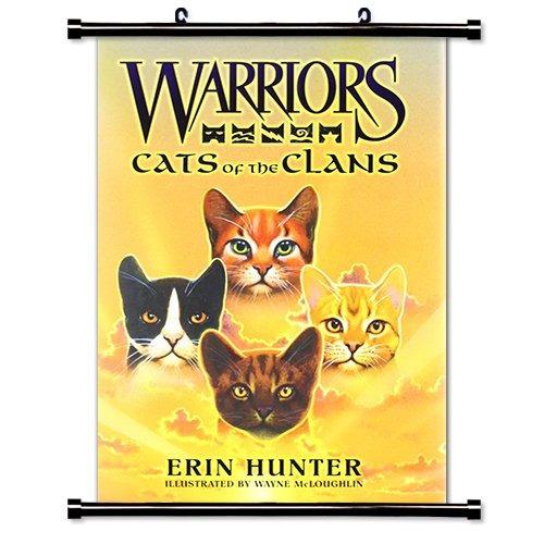 guerreros gatos de los clanes (erin hunter) tela pergamino
