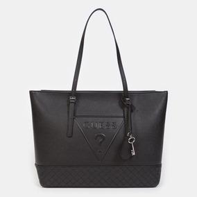 Guess Cierre Color Negro Bolso Con En Original Bolsas Grande shtCxrdQ