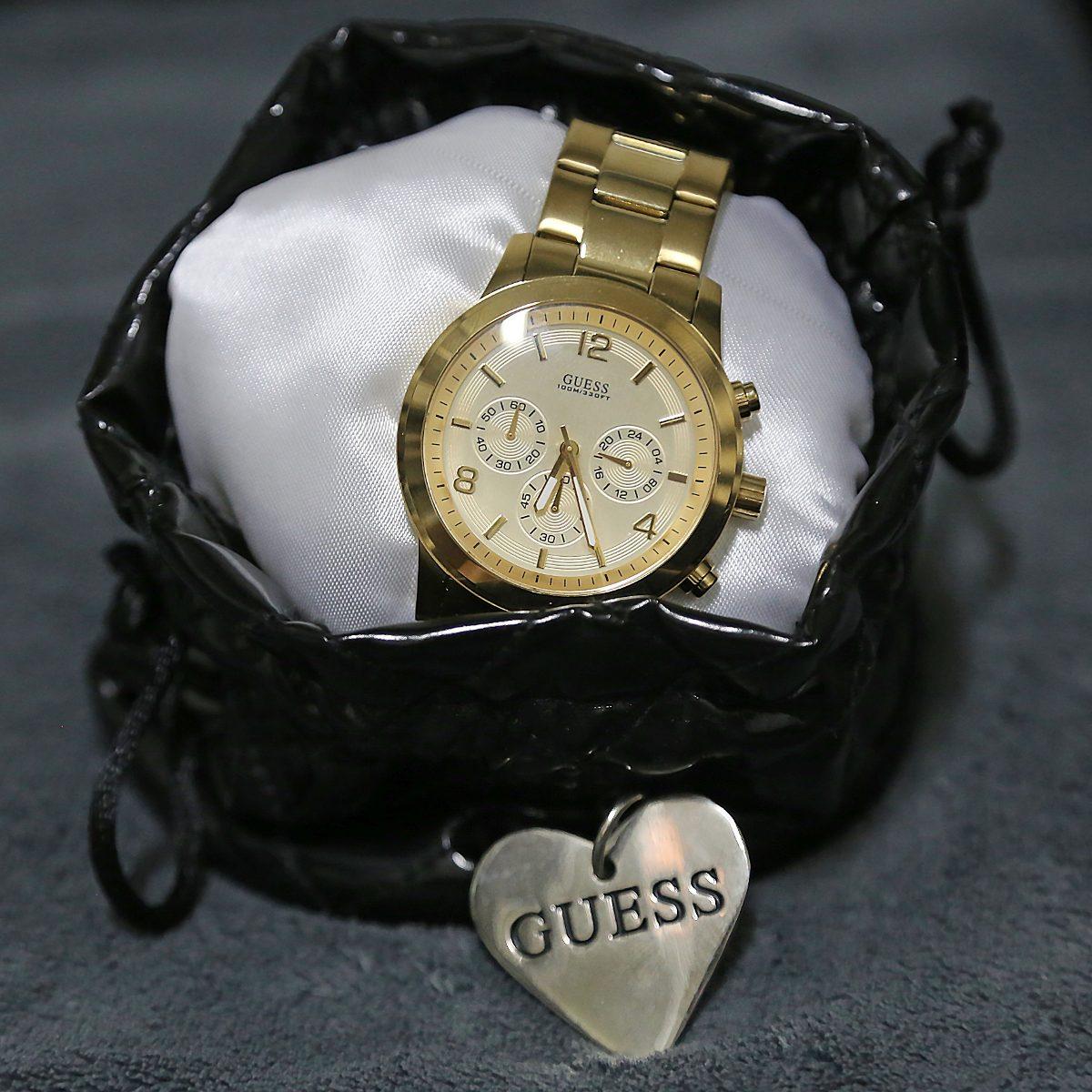 69d731db088 Carregando zoom... relógio guess feminino dourado - 40%off