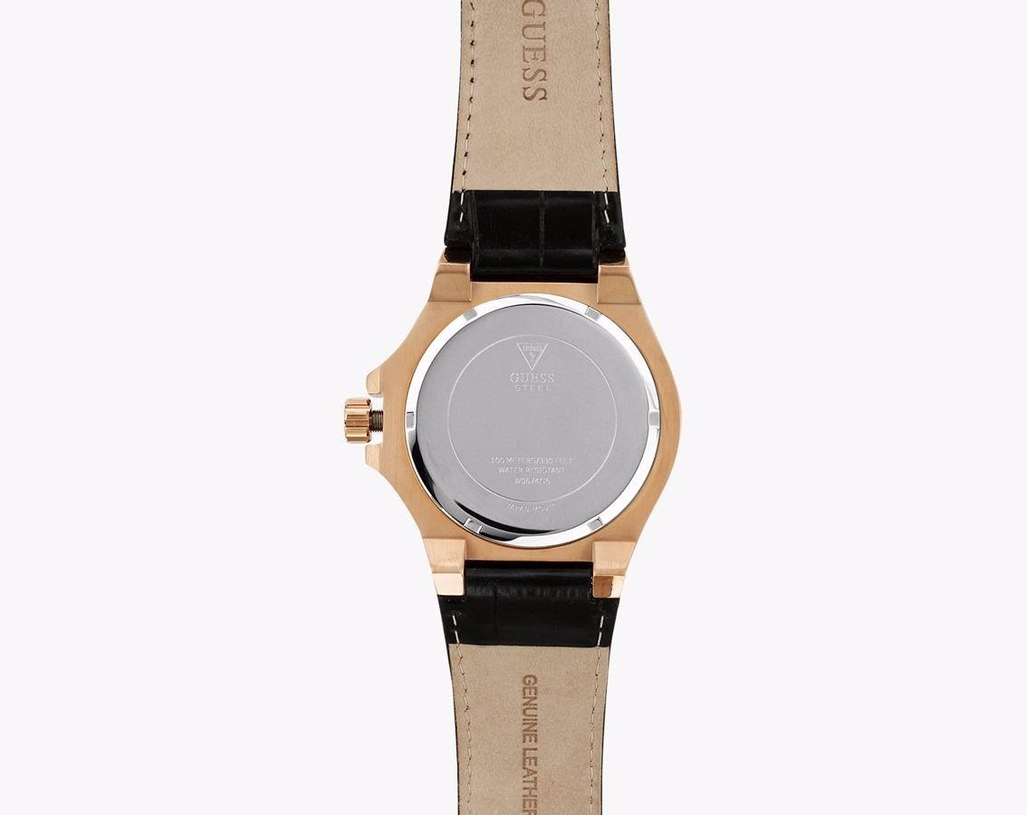 Cargando zoom... reloj guess w0674g6 cuero negro dorado original hombre db1f4af97fbe