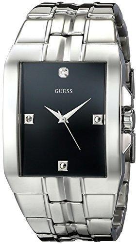 guess hombre u10014g1 reloj rectangular en acero inoxidable