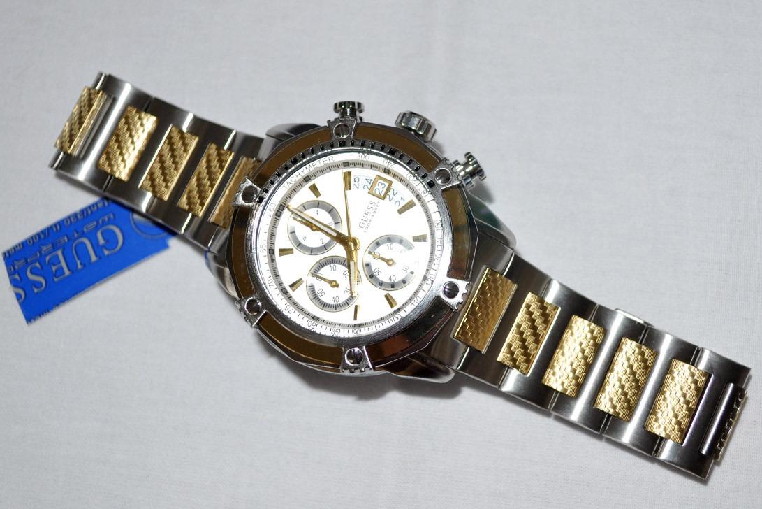54e6f30d6 Relógio Guess Masculino Original U18507g1 Dourado - R  600