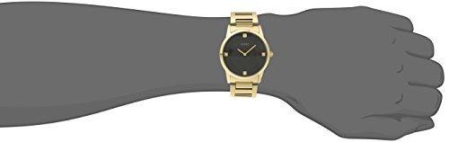 guess men's u0428g1 sleek gold-tone watch with !