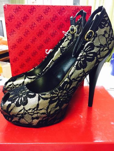 guess plataformas taco zapatos fiesta noche num 37.5 nuevos