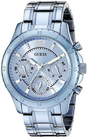 guess u0704l2 icónica del cielo azul reloj de las mujeres