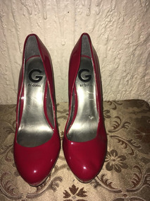 Zapato De Tacon Rojo de Mujer Stilletos Guess en Mercado