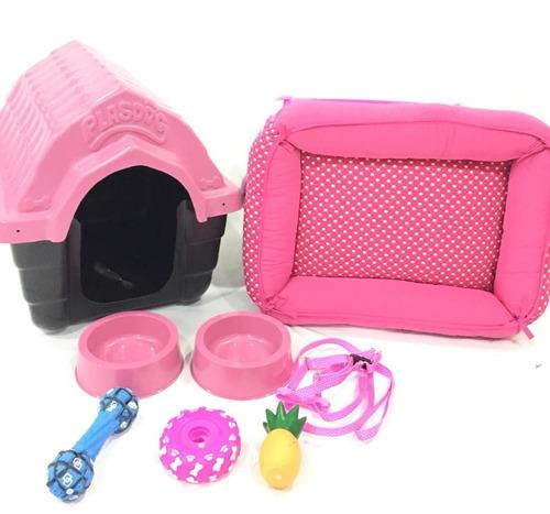guia coleira cama casinha plastica e transp medio porte