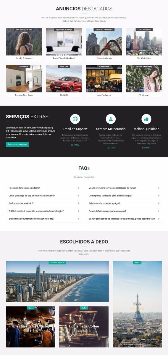 Guia Comercial Premium Tema Wordpress Responsivo Pro - R$ 29,99 em ...