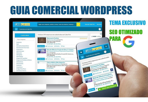 guia comercial wordpress tema exclusivo + seo  google