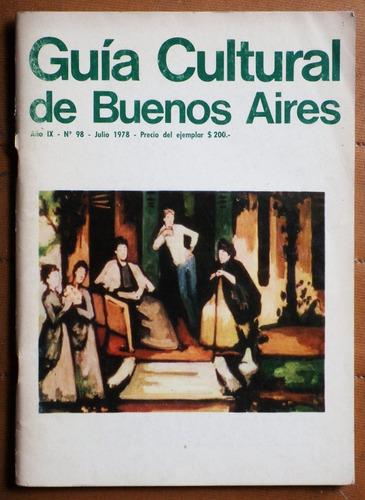 guía cultural de buenos aires julio 1978