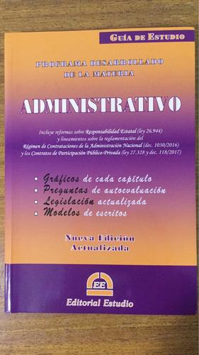 guia de estudio administrativo - ed. estudio - 2017