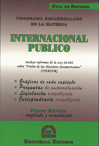 guía de estudio de derecho internacional público