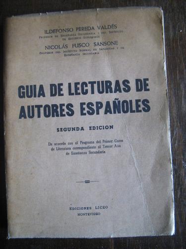 guía de lecturas de autores españoles. pereda valdez, fusco