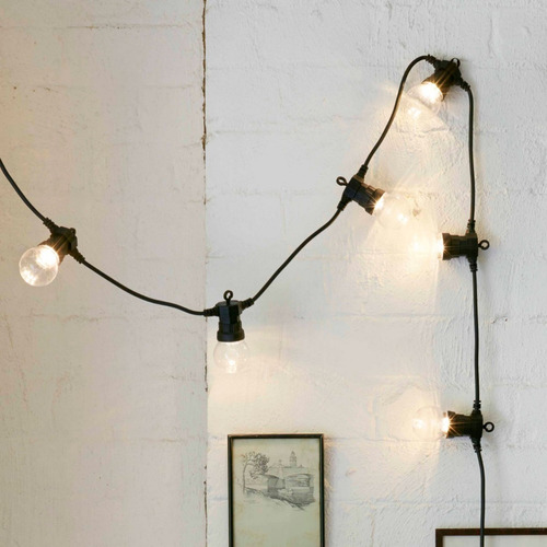 guia de luces foco vintage led de plástico blanco cálido