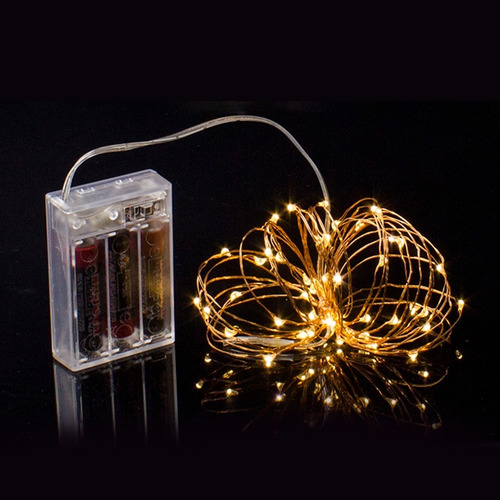 guia de mini luces led x20 2m decoración luciernagas a pila