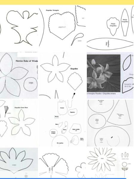 Guia De Plantillas Para Hacer Flores Goma Eva Tela Frizado 150 - Plantillas-para-hacer-flores-de-goma-eva