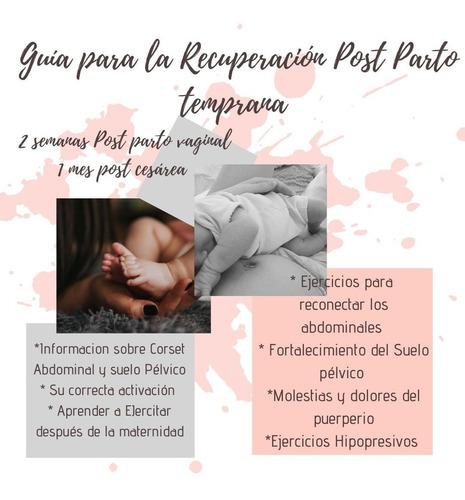 guía de recuperación post parto temprana