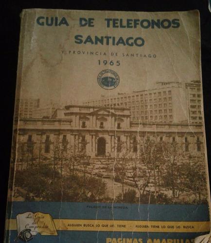 guia de telefonos santiago 1965