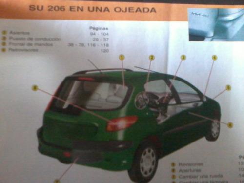 guía de utilización - manual - peugeot 206 - buen estado