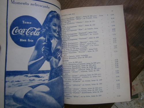 guia del buen comer y mejor beber anuncio coca cola años 40