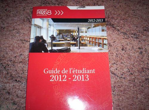 guía del estudiante 2012-2013 en francés universidad d parís
