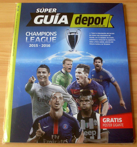 guia depor champions league 2015 - 2016