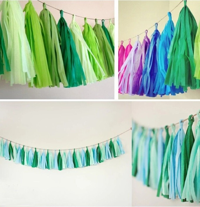 Gu a guirnalda decorativa en papel china baby shower - Como hacer color turquesa ...