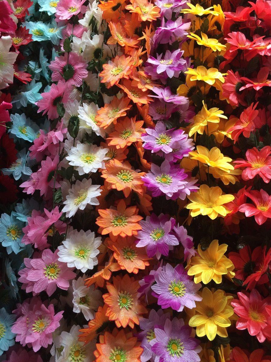 Gu a guirnalda flores artificiales 3 mt largo boda xv for Plastico para lagunas artificiales