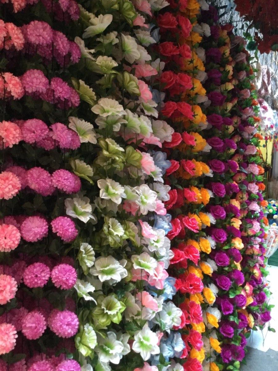 Gu a guirnalda flores artificiales adorno xv boda rosas for Plastico para estanques artificiales