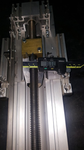 guia lineal cnc con husillo 64 cm power industrial