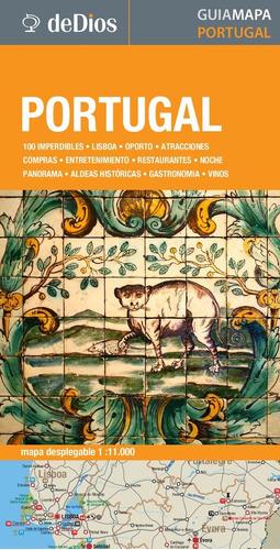 guía mapa de portugal. de dios guías de viaje