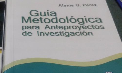guía metodológica para anteproyectos de investigación pdf