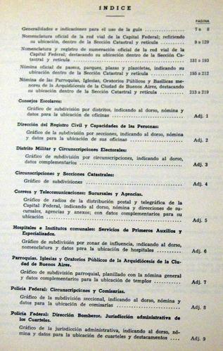 guía nomenclatura urbana de buenos aires 1970 no envio