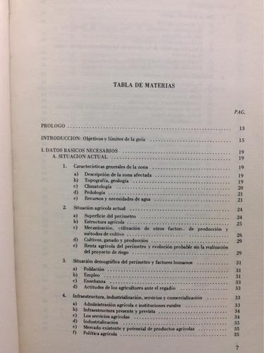 guia para la evaluación económica de proyectos de regadio