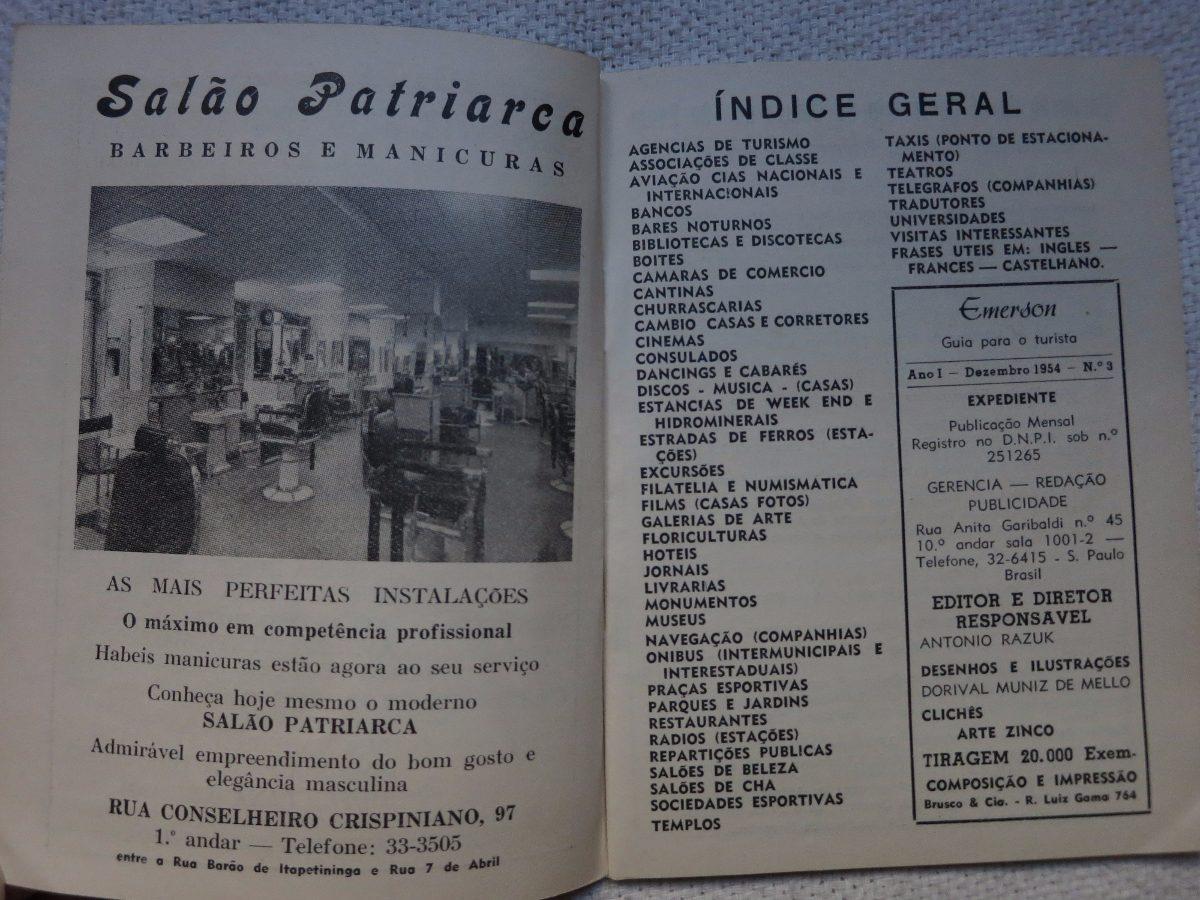 Guia Para Turistas Emerson Sao Paulo San Pablo 1954 1955