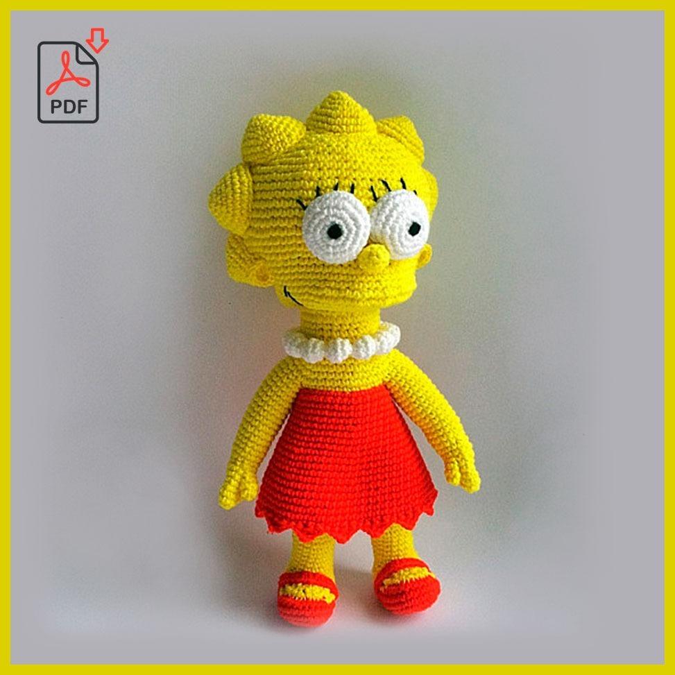 Guía Pdf Tejido Muñeca Lisa Simpson Patrón Crochet - $ 350.00 en ...