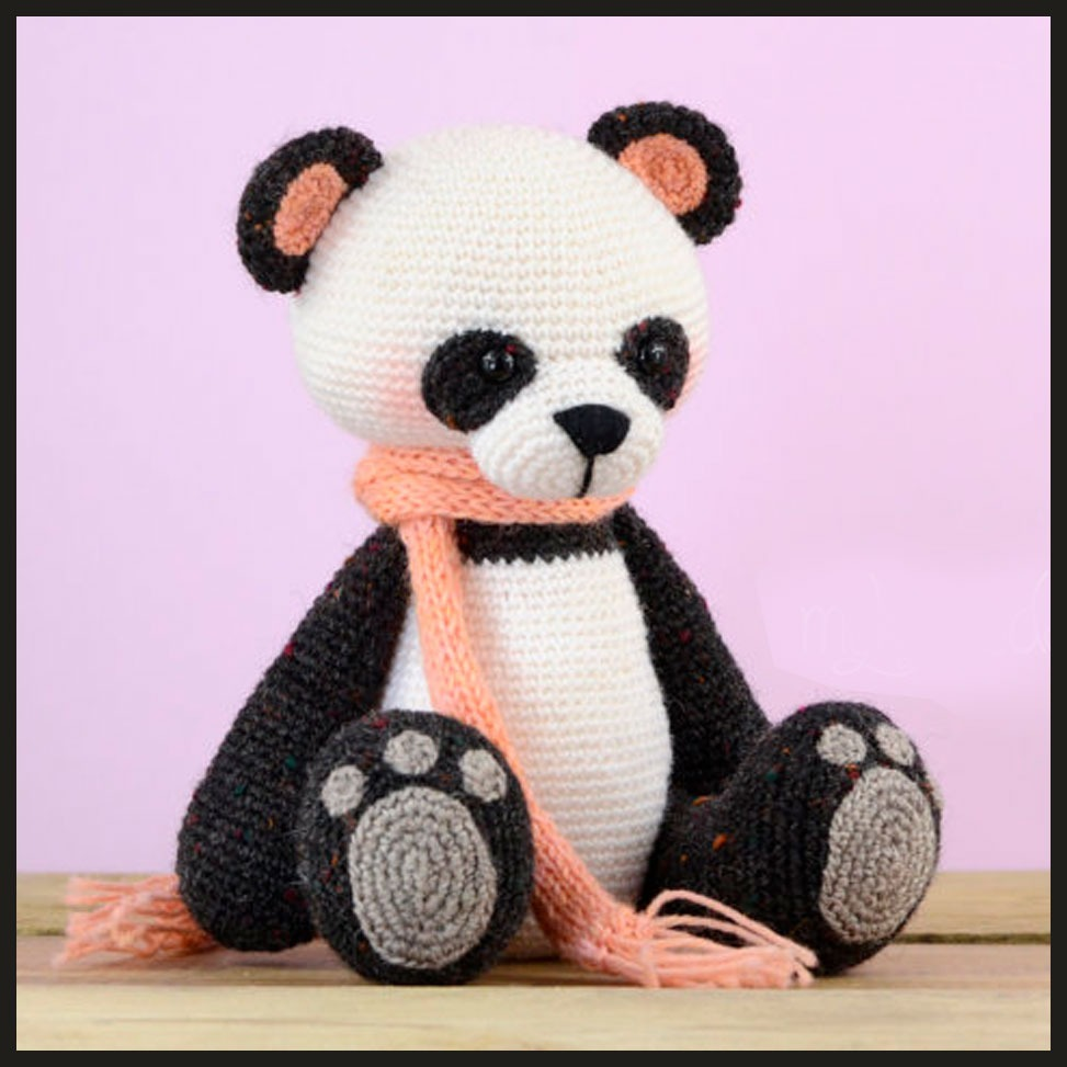 Oso panda kawaii amigurumi. Video tutorial del paso a paso ... | 973x973