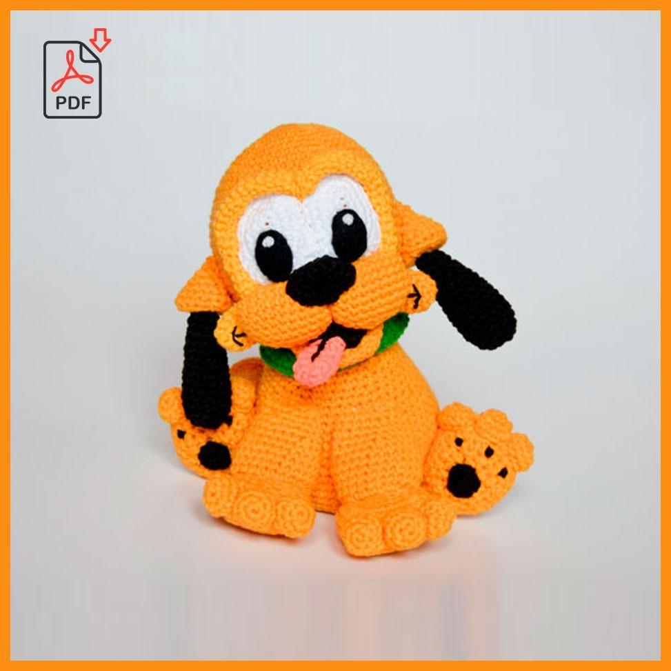 Guía Pdf Tejido Muñeco Perro Pluto Patrón Crochet - $ 350.00 en ...