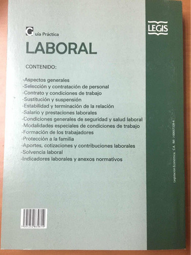 guia práctica laboral legis derecho del trabajo libros