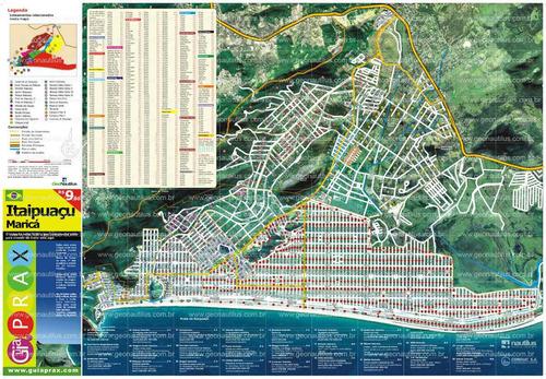 guia prax itaipuaçu - mapa de itaipuaçu