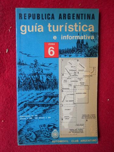 guía turística aca provincia buenos aires automóvil club z 6