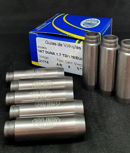 guías de válvula  duna 1.7d turbo 128 europa 1,4/1,6